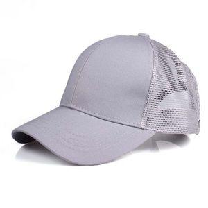 Gray Ponytail Cap